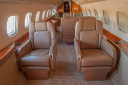 Duncan Aviation interior refurbishment on a Legacy 600