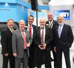 Duncan Aviation Universal Avionics Award Presentation at NBAA 2013