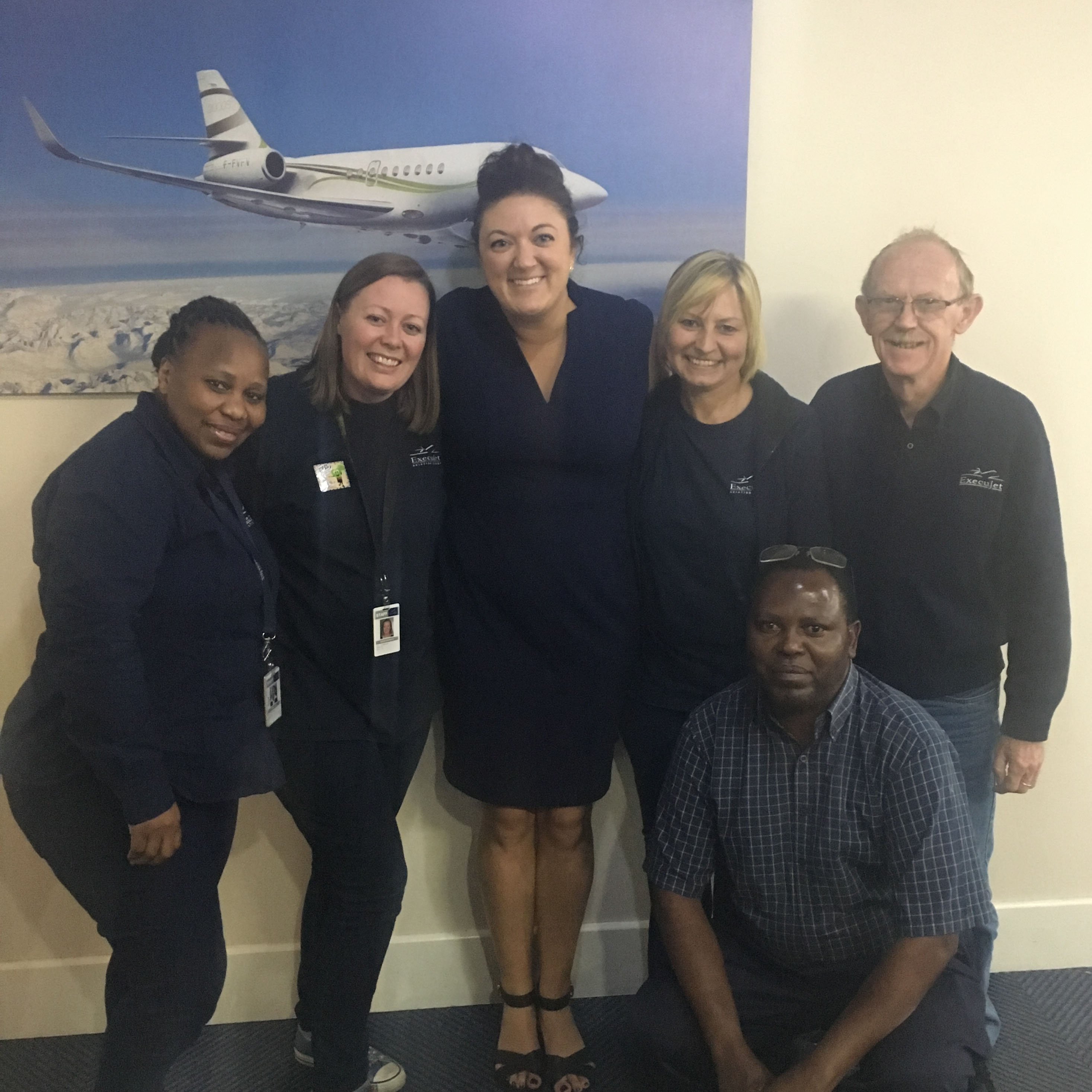 Hannah visiting with Execujet