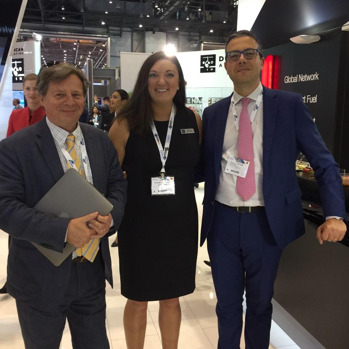 Hannah with Piaggio Aerospace at EBACE 2017